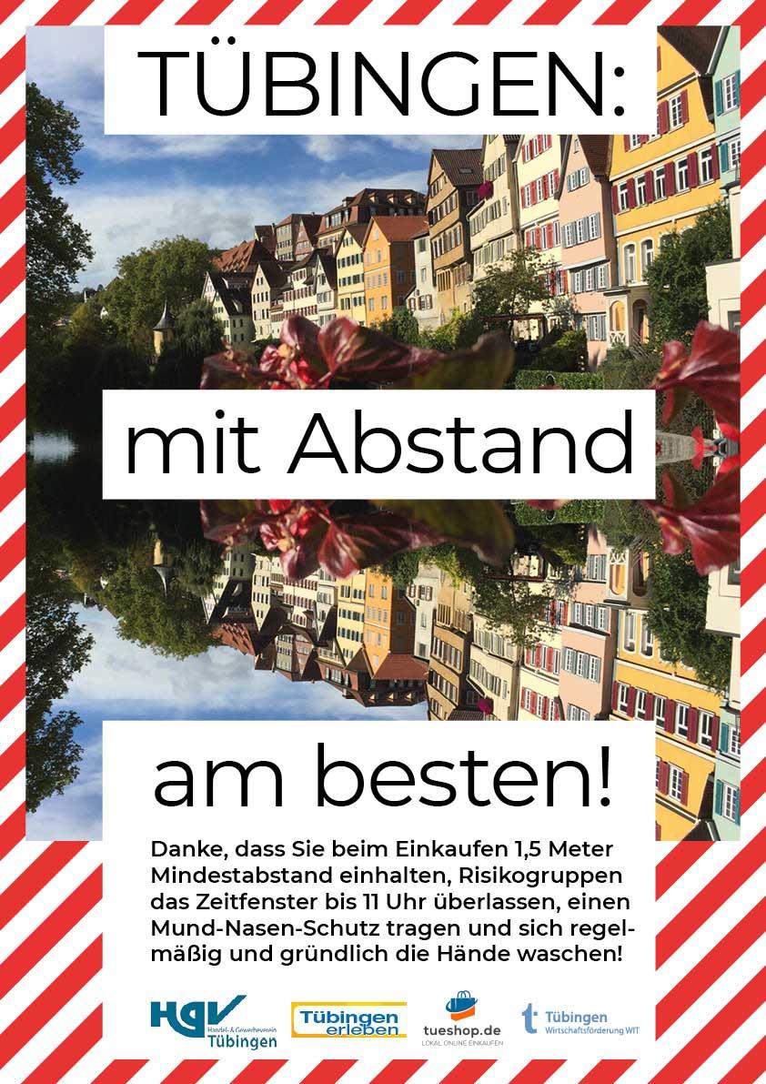 Plaktmotiv: Tübingen mit Abstand am besten.