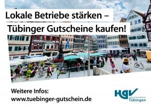 Werbemotiv für den Tübinger Gutschein